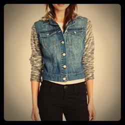 Jessica Simpson Jackets & Coats | Jessica Simpson Womens Pixie Denim Jean Jacket | Color: Black/Blue | Size: M