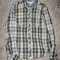 Columbia Tops | Columbia Gray Green Plaid Button Western Shirt S | Color: Gray/Green | Size: S