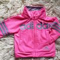 Adidas Jackets & Coats | Little Girl Toddlers Adidas Pink Zip Up Sweater | Color: Pink | Size: 3-6mb