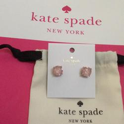 Kate Spade Jewelry   Kate Spade Gumdrop Stud Round Cut Earrings Pink   Color: Gold/Pink   Size: Os