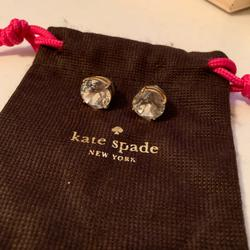 Kate Spade Jewelry   Kate Spade - Round Diamond Earrings   Color: Gold   Size: Os