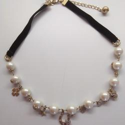 Kate Spade Jewelry | Kate Spade New Pearl Good Luck Necklace | Color: Black/White | Size: 18 Necklace; 12 Pearl