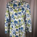 Nine West Jackets & Coats   Nine West Long Floral Trench Coat Jacket Medium   Color: Blue/Green   Size: M