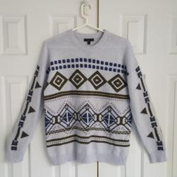 J. Crew Sweaters   J.Crew   Aztec Blue-Grey Sweater   Color: Blue/Gray   Size: M