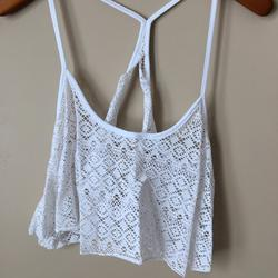 Pink Victoria's Secret Swim   Pink Cropped Swimsuit Coverup   Color: White   Size: Xs