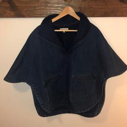 Madewell Jackets & Coats | Denim Poncho Cape By Madewell | Color: Blue | Size: Xs