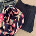 American Eagle Outfitters Accessories | Multi Color Loop Scarf | Color: Blue/Pink | Size: Os