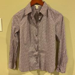 J. Crew Tops | Jcrew J. Crew Liberty Print Shirt Women'S Size 0 | Color: Blue/Purple | Size: 0