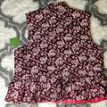 Kate Spade Jackets & Coats | Kate Spade Reversible Quilted Vest | Color: Pink/Purple | Size: Xl