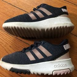 Adidas Shoes | Adidas Girls Toddler Casual Shoe Used | Color: Gray/Pink | Size: 7bb
