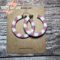 J. Crew Jewelry | J.Crew Beaded Hoop Earrings Pale Pink | Color: Pink/White | Size: Os