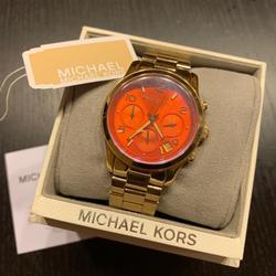 Michael Kors Accessories | Michael Kors Orange Dial Watch | Color: Gold/Orange | Size: Os