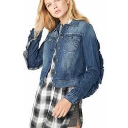 Jessica Simpson Jackets & Coats | Jessica Simpson Peony Relaxed Denim Jacket Ruffle | Color: Blue | Size: S