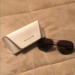 Michael Kors Accessories   Michael Kors Polarized Sunglasses   Color: Black/Gold   Size: Os