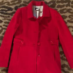 J. Crew Jackets & Coats | J. Crew Red Madeline Coat | Color: Red | Size: 10