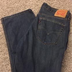 Levi's Jeans | Levis Jeans Mens W36 L32 Dark Blue Denim Jeans | Color: Blue | Size: 36