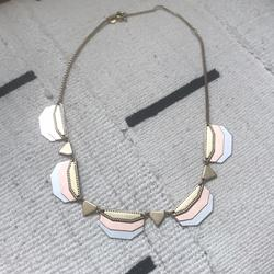 Madewell Jewelry | Madewell Brass And Rose Gold Necklace | Color: Gold | Size: Os