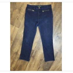 Ralph Lauren Jeans   Ralph Lauren Jeans Co Dark Denim Straight Leg Jean   Color: Blue   Size: 8p