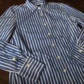 J. Crew Tops | J.Crew Ls Shirt In Vertical Stripe (Sz 2) | Color: Blue/White | Size: 2