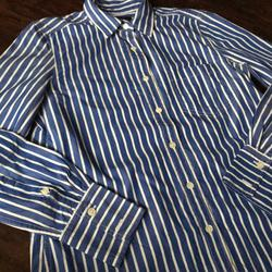 J. Crew Tops   J.Crew Ls Shirt In Vertical Stripe (Sz 2)   Color: Blue/White   Size: 2