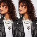 Free People Jewelry | Free People Girl In The Pearls Statement Necklace | Color: Black/Silver | Size: Os