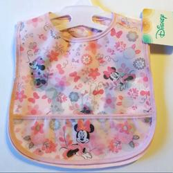 Disney Accessories | Disney Baby Minnie Mouse Set Of 2 Baby Bibs | Color: Pink | Size: 2 Minnie Mouse Bibs