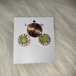Kate Spade Jewelry   Kate Spade Gold-Tone Round Crystal Stud Earring   Color: Gold/Yellow   Size: Os