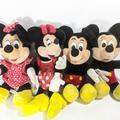 Disney Other | Disney Mickey Mouse And Minnie Mouse Vintage Plush | Color: black | Size: Os