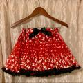 Disney Bottoms | Disney Minnie Mouse Red Tutu Skirt Disney Parks | Color: Red/White | Size: Xlg