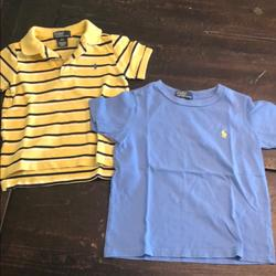 Polo By Ralph Lauren Shirts & Tops | Polo Ralph Lauren Polo Shirt And T-Shirt | Color: Blue/Yellow | Size: 4tb