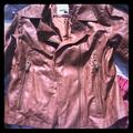 Levi's Jackets & Coats | Leather Jacket Nwot | Color: Brown/Red | Size: M