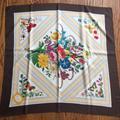 Gucci Accessories | Gucci V Accornero Vintage Flora Silk Scarf | Color: Brown/Cream | Size: Os