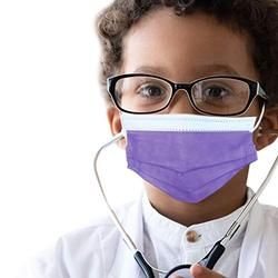 50 pcs of ASTM Level 3 Disposable Kids Face Mask - Made in USA - Certified by Eurofins & Nelson Labs | Designed for Children | For Girls and Boys, School, Outdoor, University (Lavender Purple)