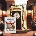 """Tinesa Christmas Flag Hanging with My Gnomies, Xmas Deer Home Decorative House Yard Small Flag Decor Double Sided Flag House Flag Garden Flag (House Flag 29.5""""x39.5"""")"""