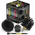 BBQ Accessories - Grill Accessories - Grill Brush Cleaning Kit with Extension - Electric Smoker - Gas Grill - Drill Brush - Grill Scraper - Rust Remover-Wire Brush - Grill Cleaner - BBQ Brush