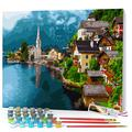 Opalberry DIY Paint by Numbers for Adults Framed Canvas - Adults' Paint-by-Number Kits on Canvas - DIY Painting by Numbers for Adults - Paint by Numbers with Frame - Paint by Numbers Lakeshore