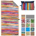 ECCOSOPHY Microfiber Beach Towel - Quick Dry Pool Towels 71x35 inches Oversized Travel Towel - Lightweight Compact Beach Accessories - Large Sand Free Micro Fiber Beach Towels (Key West)