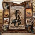 Horse Quilt - I Am The Storm - Gold and Grey Quilt Quilt Patterns All-Season Quilts Comforters with Cotton - King Queen Twin Size Beach Trips, Gifts Quilt