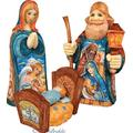 G. Debrekht Christmas Décor Hand Painted Nativity Set 3 Wooden Box