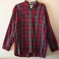 Columbia Shirts | Columbia Mens Flannel Shirt | Color: Brown/Red | Size: Xl