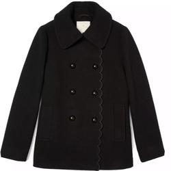 Kate Spade Jackets & Coats | New Kate Spade New York Scallop Black Peacoat M | Color: Black | Size: M