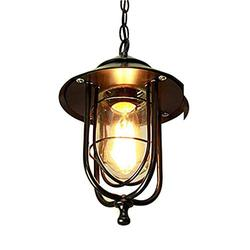 SkyTalent Indoor Outdoor Pendant Light Fixtures, 1-Light Exterior Hanging Lantern Lighting for Porch, Height Adjustable Farmhouse Light with Sanded Black Finish Clear Glass