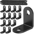 100Pcs Black Corner Brace, 26MMx26MM Heave Duty Corner Brackets for Wood, 90 Degree Corner Braces Joint Right Angle Bracket for Shelves, Tables, Dressers, Chairs, Metal Iron L Shape Bracket