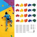 DOIT 25 Rock Climbing Holds for Kids & Adults, Climbing Wall Grip Kits for Indoor Outdoor Home,DIY Climbing Wall Grip Kits with Secure Mounting Hardware