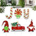 changsha 6 Pack Joy Xmas Stakes, Christmas Joy Yard Sign Decorations for Holiday Yard Sign Outdoor Lawn Christmas Winter Holiday Decorations