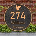 Address Plaque Butterfly Round Vintage Home Address Sign Garden Decoration Wall Mounted Sign,Imitation Metal,Used for Houses,Apartments,Gardens,Offices (Antique Copper)