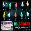 Skeleton Lights Halloween String Lights with Remote Controller 10Ft 20LEDs Skeletons Halloween Lights Decoration, 8 Lighting Modes Battery-Powered String Lights, Spooky Lights for Patio Indoor Outdoor