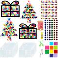 Exquiss Tissue Paper Christmas Suncatcher Craft Christmas Tree Suncatchers Christmas Holiday Suncatchers for Kids Craft DIY Crafts