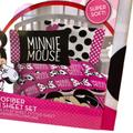 Disney Bedding   Disney Minnie Mouse Microfiber Twin Sheet Set   Color: Black/Pink   Size: Twin