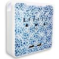 Kelvin Home 15-Amp Standard Duplex Outlet in Black/Blue/Brown, Size 4.5 H x 4.5 W x 1.5 D in   Wayfair KH-Glam-Sant